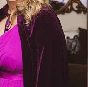Jackets & Blazers - Deep Purple Velvet Cloak